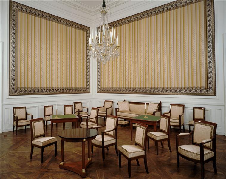 Palais de Compiègne, deuxième salon de l'appartement double de Prince (état restitué : Premier Empire)