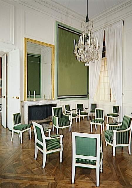 Palais de Compiègne, premier salon de l'appartement double de Prince (état restitué : Premier Empire)