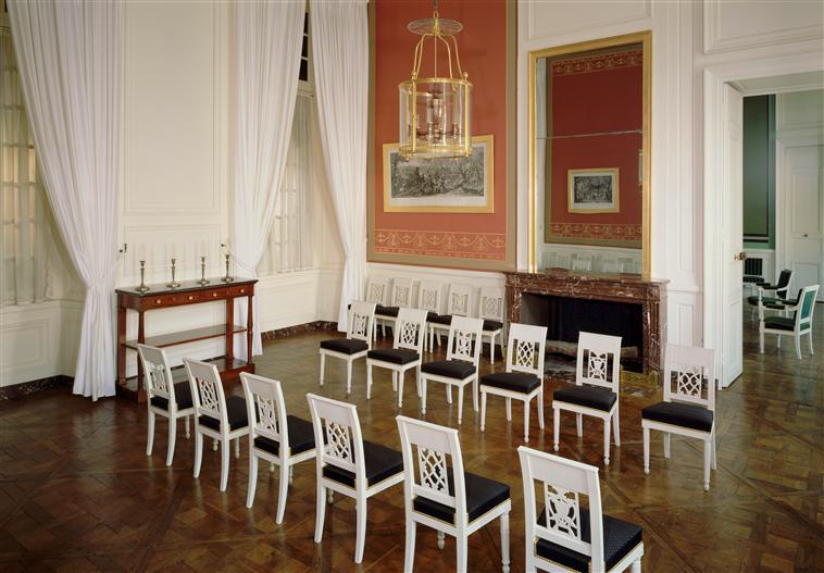 Palais de Compiègne, salle à manger de l'appartement double de Prince (état restitué : Premier Empire)