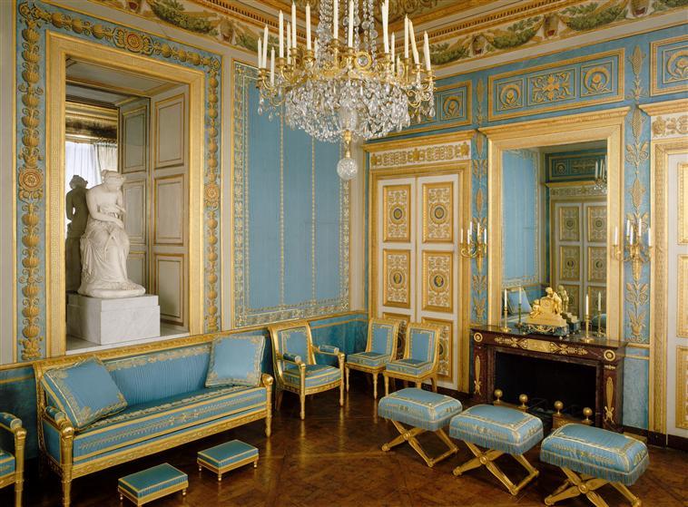 Palais de compiègne salon bleu état restitué premier empire