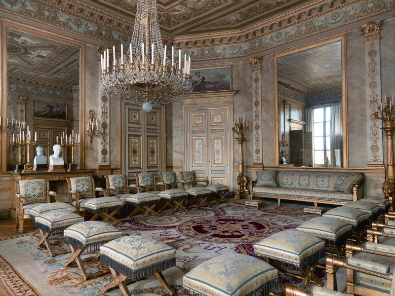 Palais de Compiègne, salon des Dames d'Honneur (état restitué : Premier Empire)