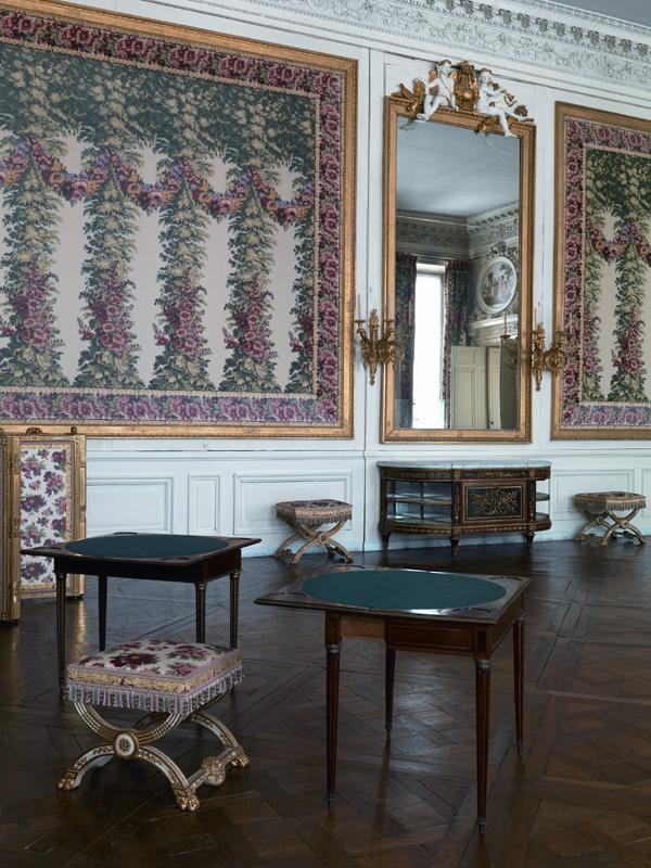 Palais de Compiègne, salon des jeux de la Reine (état restitué : 1791)