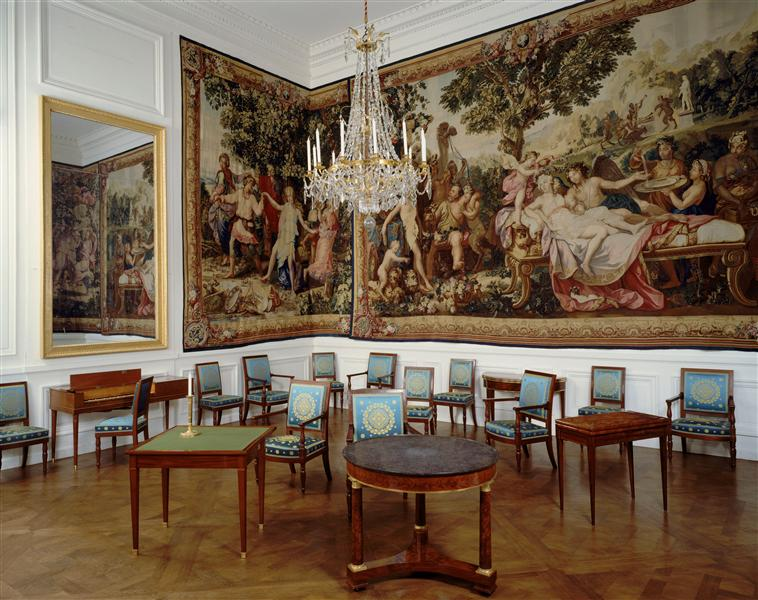 Palais de Compiègne, salon latéral de l'appartement double de Prince (état restitué : Premier Empire)