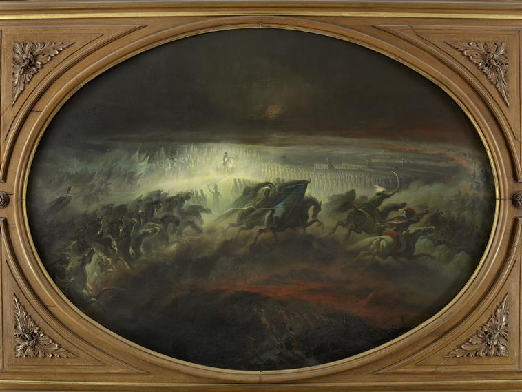Dietz, La Revue nocturne, huile sur toile, 1853, Palais de Compiègne
