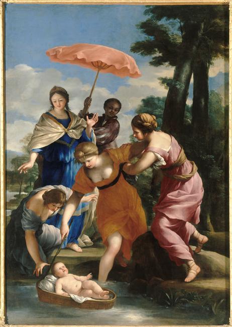 Romanelli, Moïse sauvé des eaux, chapelle du palais de Compiègne